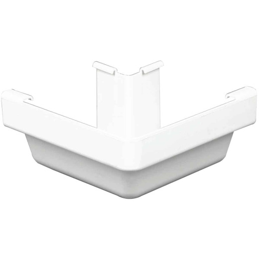 Amerimax 5 In. Traditional K-Style White Vinyl Gutter Outside Miter