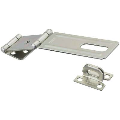 National 4-1/2 In. Double Hinge Zinc Hasp
