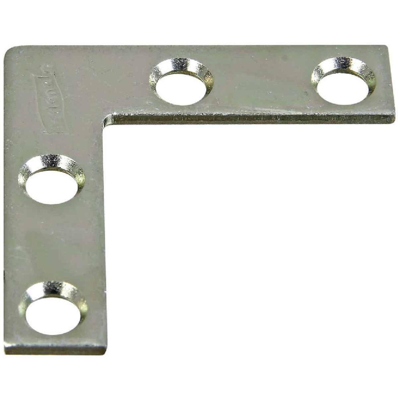 National Catalog 117 1-1/2 In. x 3/8 In. Zinc Flat Corner Iron Image 1