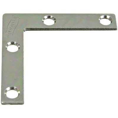 National Catalog 117 2 In. x 3/8 In. Zinc Flat Corner Iron