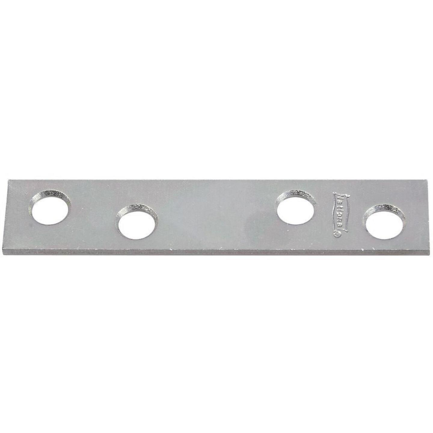 National Catalog 118 3 In. x 5/8 In. Zinc Steel Mending Brace (4-Count) Image 1