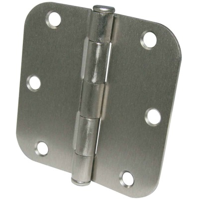 Ultra Hardware 3-1/2 In. x 5/8 In. Radius Satin Nickel Door Hinge (3-Pack)