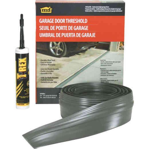 M-D 3-1/2 In. x 10 Ft. Gray Vinyl Threshold Garage Door Seal Kit