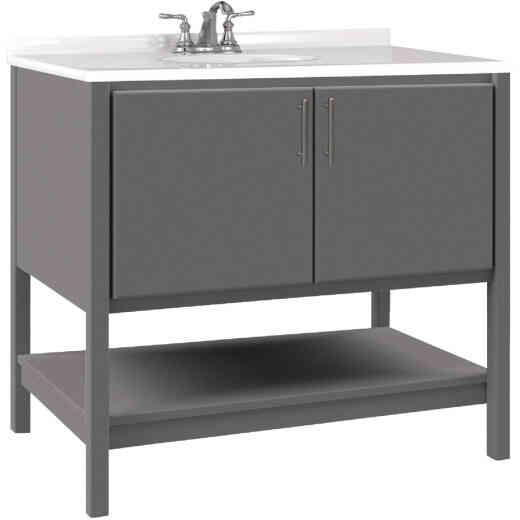 Bertch Essence 36 In. W x 34-1/2 In. H x 21 In. D Graphite Furniture Style Vanity Base, 2 Door