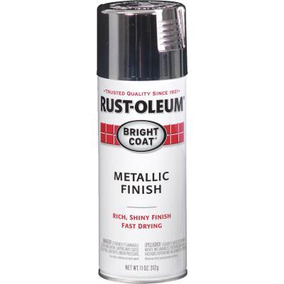 Rust-Oleum Bright Coat Chrome Metallic Gloss 11 Oz. Anti-Rust Spray Paint